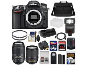 Nikon D7100 Digital SLR Camera with 18-140mm & 55-300mm VR Lenses, WU-1a, Bag & 32GB Card + 64GB Card + Battery & Grip + Flash & Diffuser + Geotag GPS Adapter + Filters + Kit