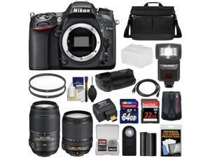 Nikon D7100 Digital SLR Camera with 18-140mm & 55-300mm VR Lenses, WU-1a, Bag & 32GB Card + 64GB Card + Battery & Grip + Flash & Diffuser + Geotag GPS Adapter + Filters + Kit