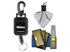 Nikon Retractable Rangefinder Tether with Cleaning Kit
