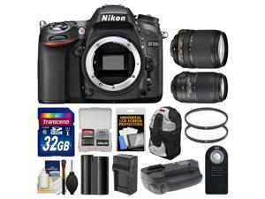 Nikon D7100 Digital SLR Camera Body with 18-140mm & 55-300mm VR Lens + 32GB Card + Backpack + Grip + Battery/Charger + Kit