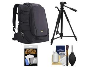 Case Logic DSB-103 Luminosity Digital SLR Camera Backpack Case (Black) with Tripod + Accessory Kit