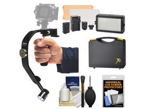 Sunpak 2000AVG Video Stabilizer Grip for GoPro, Action & P&S Cameras with LED Video Light Kit + Accessory Kit