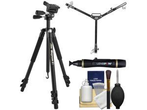 "Davis & Sanford Magnum XG 72"" Pro Photo/Video Tripod with 3-Way Fluid Pan Head & Case with Tripod Dolly + Cleaning Kit"