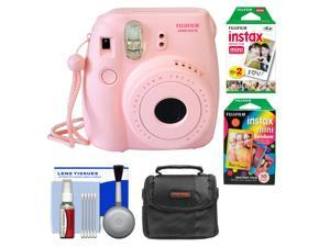 Fujifilm Instax Mini 8 Instant Film Camera (Pink) with Instant Film & Rainbow Film + Case + Cleaning Kit