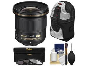 Nikon 20mm f/1.8G AF-S ED Nikkor Lens with 3 UV/CPL/ND8 Filters + Backpack + Kit