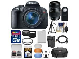 Canon EOS Rebel T5i Digital SLR Camera & EF-S 18-55mm IS STM Lens with 70-300mm Lens + 32GB Card + Case + Battery/Charger ...