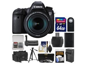 Canon EOS 6D Digital SLR Camera Body & EF 24-105mm IS STM Lens with 64GB Card + Canon Case + Battery & Charger + Flash + Tripod + 3 Filters Kit