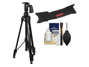 "Sunpak 61"" 6000PG Aluminum Tripod with Pistol Grip Ball Head with Case + Cleaning Kit"