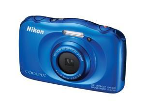 Nikon S33 Coolpix Shock & Waterproof Digital Camera (Blue)