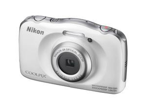 Nikon S33 Coolpix Shock & Waterproof Digital Camera (White)