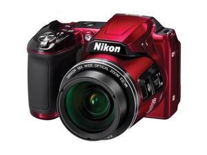 Nikon Coolpix L840 Wi-Fi Digital Camera (Red) - Factory Refurbished includes Full 1 Year Warranty