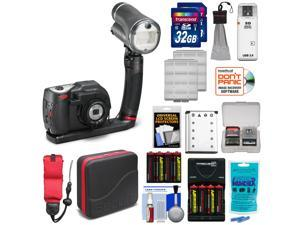 SeaLife DC1400 14MP HD Underwater Digital Camera Sea Dragon Pro Set & Flash with (2) 32GB Cards + Battery + Case + Accessory Kit