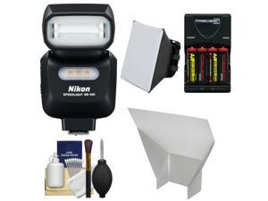 Nikon SB-500 AF Speedlight Flash & LED Video Light with Batteries & Charger + Softbox + Reflector Kit