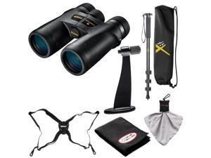 Nikon Monarch 7 10x42 ED ATB Waterproof/Fogproof Binoculars with Case + Harness + Tripod Adapter & Monopod + Kit
