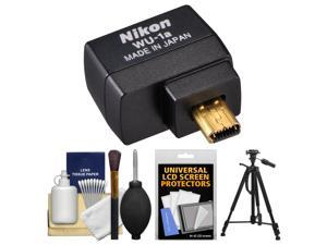 Nikon WU-1a Wireless Wi-Fi Mobile Adapter (for iPhone or Android) - Factory Refurbished + Tripod + Cleaning Kit for Coolpix A, P520, P530, P7800, DF, D3200, D3300, D5200 & D7100