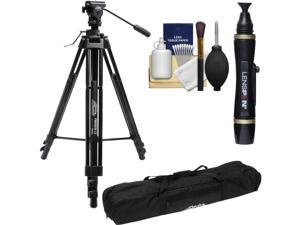 Davis & Sanford ProVista 12 Professional Video Tripod with V12 Head & Case with Lenspen + Kit