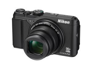 Nikon Coolpix S9900 Wi-Fi GPS Digital Camera (Black) - Factory Refurbished includes Full 1 Year Warranty