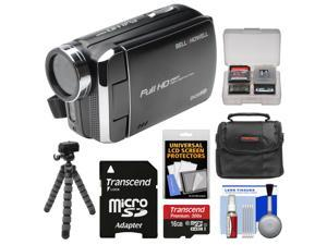 Bell & Howell DV30HD 1080p HD Video Camera Camcorder (Black) with 16GB Card + Case + Flex Tripod + Kit