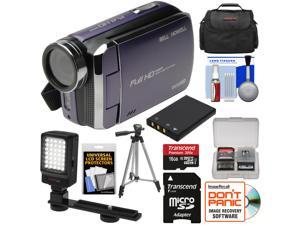 Bell & Howell DV30HD 1080p HD Video Camera Camcorder (Purple) with 16GB Card + Battery + Case + Tripod + LED Video Light + Kit