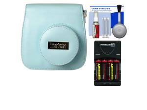 Fujifilm Groovy Camera Case for Instax Mini 8 (Blue) with (4) Batteries & Charger + Accessory Kit