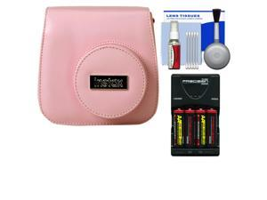 Fujifilm Groovy Camera Case for Instax Mini 8 (Pink) with (4) Batteries & Charger + Accessory Kit
