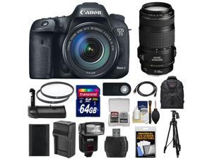 Canon EOS 7D Mark II GPS Digital SLR Camera & EF-S 18-135mm IS STM Lens with 70-300mm IS USM Lens + 64GB Card + Backpack + Tripod + Grip + Battery + Kit