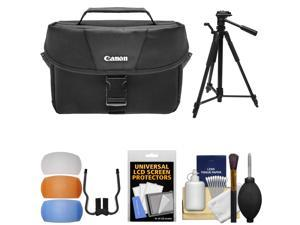 Canon 100ES Digital SLR Camera Case with Tripod + Flash Diffusers + Kit