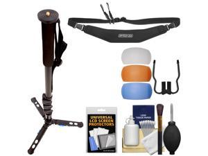 """Davis & Sanford 64"""" Monoped64 Monopod with Removable Folding Base with Strap + Flash Diffusers + Kit"""