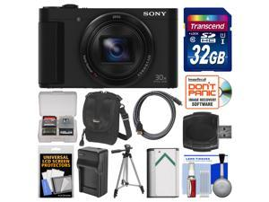 Sony Cyber-Shot DSC-HX90V Wi-Fi GPS Digital Camera with 32GB Card  #43; Case  #43; Battery  #38; Cha
