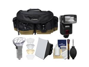 Canon 1EG Professional Digital SLR Camera Case - Gadget Bag with Flash + Soft Box + Diffuser Bouncer + Kit