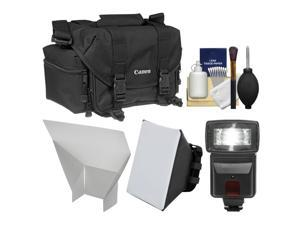 Canon 2400 Digital SLR Camera Case - Gadget Bag with Flash + Soft Box + Reflector + Kit