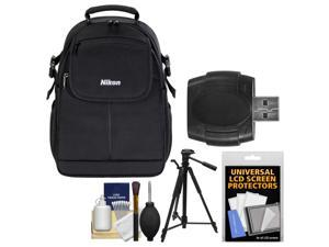 Nikon 17006 Compact DSLR Camera Backpack Case with Tripod + Kit
