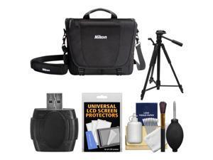 Nikon 17007 DSLR Camera Courier Bag with Tripod + Kit