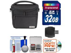 Nikon 17009 Series 1/Coolpix Compact Camera Case with 32GB Card + Kit for 1 J4, J5, V3, AW1, L840, P530, P610, P900