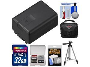 Panasonic VW-VBT190 Rechargeable Battery with 32GB Card + Case + Tripod + Kit