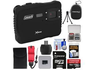 Coleman Xtreme C6WP HD Shock & Waterproof Digital Camera (Black) with 16GB Card + Reader + Case + Kit