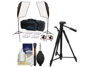 """RPS Studio Hybrid Still & Video 20"""" Square Softbox Kit with 2 Softboxes, 2 Light Stands with Tripod + Cleaning Kit"""