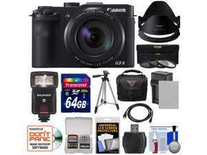 Canon PowerShot G3 X Wi-Fi Digital Camera with 64GB Card + Battery & Charger + Case + Tripod + Flash + Hood/Adapter + Filters + Kit