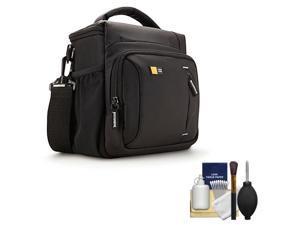 Case Logic TBC-409 Digital SLR Camera Shoulder Case (Black) with Cleaning Kit for Canon EOS 6D, 7D, 5D Mark II III, Rebel T3, T3i, T4i, T5i, SL1