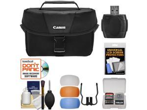 Canon 100ES Digital SLR Camera Case with Flash Diffusers + Accessory Kit