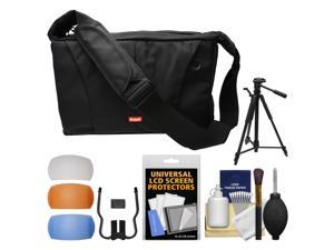 "Sunpak TravelSmart System DSLR Camera Case with Tripod Compartment & 58"" Tripod + Flash Diffuser Set + Kit"