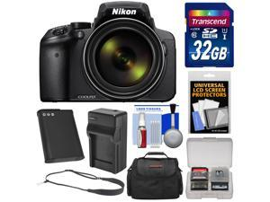 Nikon Coolpix P900 Wi-Fi 83x Zoom Digital Camera with 32GB Card + Battery & Charger + Case + Sling Strap + Kit