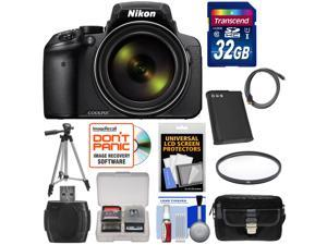 Nikon Coolpix P900 Wi-Fi 83x Zoom Digital Camera with 32GB Card + Battery + Case + Tripod + Filter + HDMI Cable + Kit