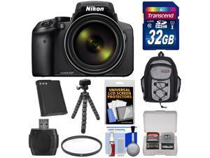 Nikon Coolpix P900 Wi-Fi 83x Zoom Digital Camera with 32GB Card + Battery + Backpack + Flex Tripod + Filter + Kit