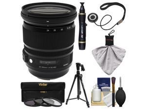 Sigma 24-105mm f/4.0 ART DG OS HSM Lens + 3 Filters + Tripod Kit for Canon EOS 6D, 70D, 7D, 5DS, 5D Mark II III, Rebel T5, T5i, T6i, T6s, SL1 Cameras