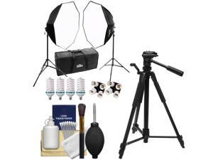 RPS Studio Hybrid Still & Video Lighting Studio Kit (RS-4085) with Tripod + Cleaning Kit