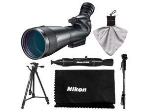 Nikon 20-60x82mm Prostaff 5 Angled Body Fieldscope Spotting Scope with Eyepiece with Tripod + Monopod + Kit