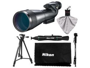 Nikon 20-60x82mm Prostaff 5 Straight Body Fieldscope Spotting Scope with Eyepiece with Tripod + Monopod + Kit