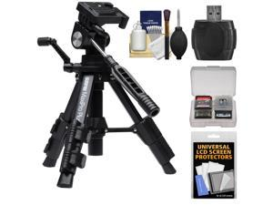 Sunpak Maxi Pro Plus Compact Low Angle Macro Tripod with Case with Reader + Screen Protectors + Kit