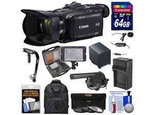 Canon Vixia HF G40 Wi-Fi 1080p HD Digital Video Camcorder with 64GB Card + Battery & Charger + Backpack + Stabilizer + LED Light + 2 Microphones Kit